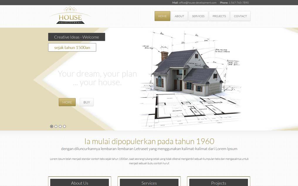 Projekt strony www dla developera