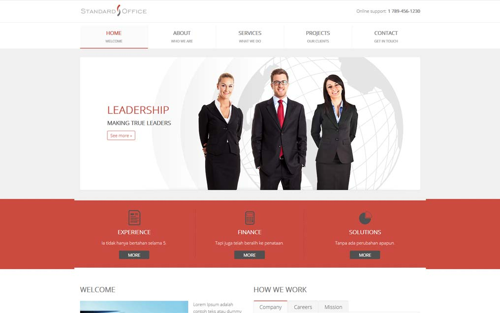 Projekt strony internetowej dla firmy finansowej