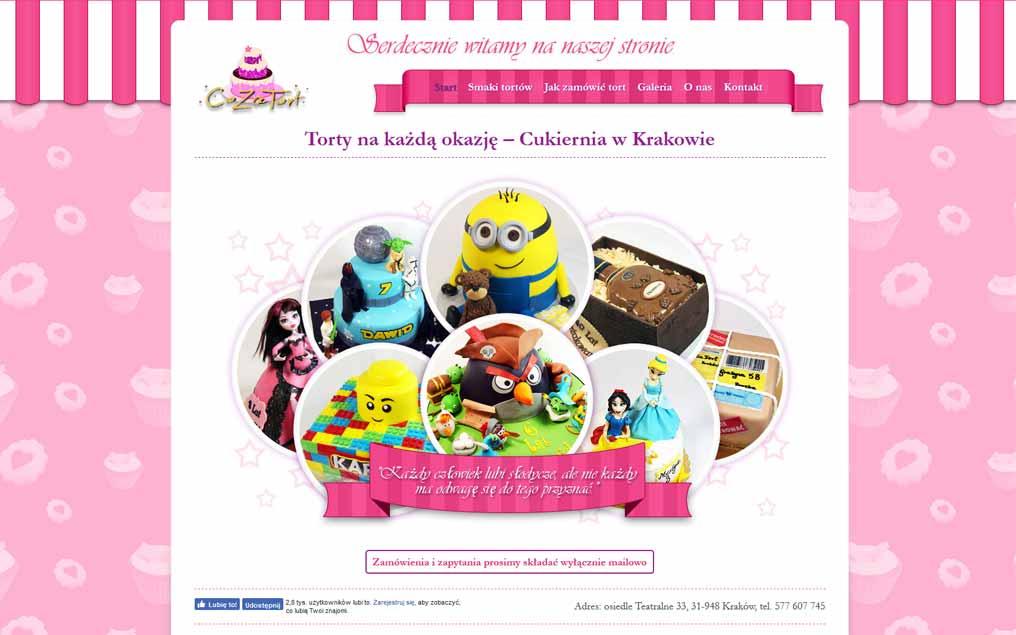 Strona internetowa dla cukierni