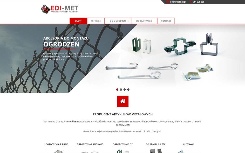 Strona internetowa dla producenta artykułów metalowcyh