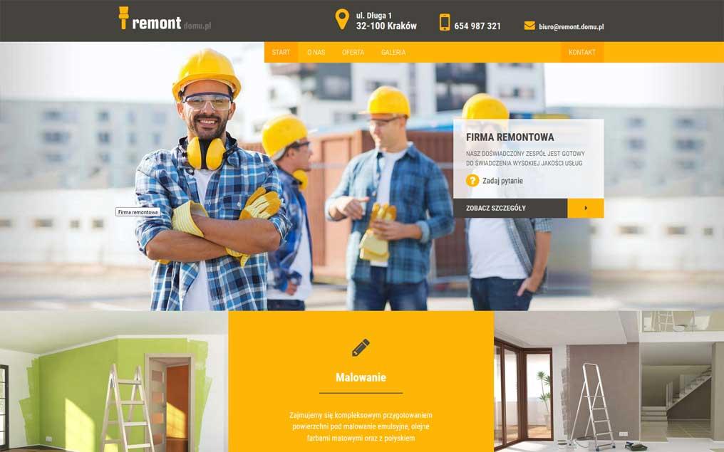 Strona internetowa firmy remontowej