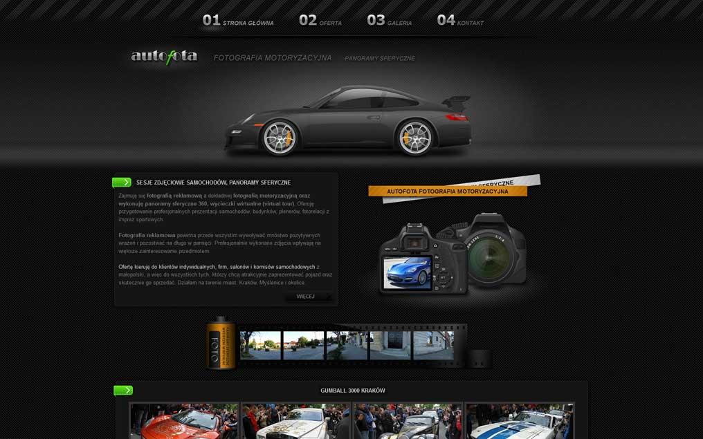 Strona internetowa fotografia motoryzacyjna