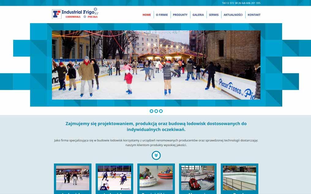 Strona internetowa lodowiska