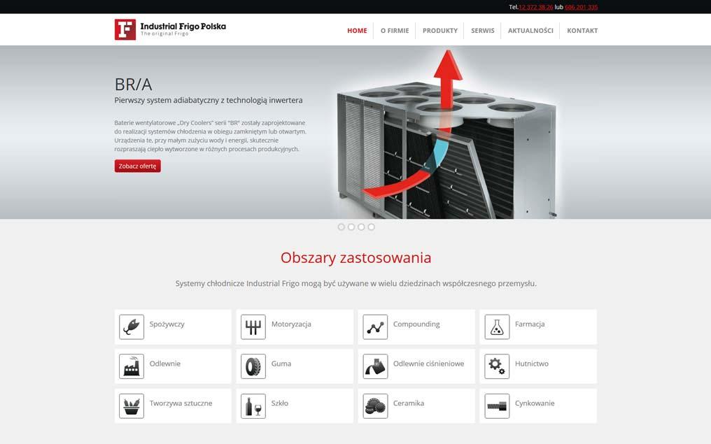 Strona internetowa przemysł