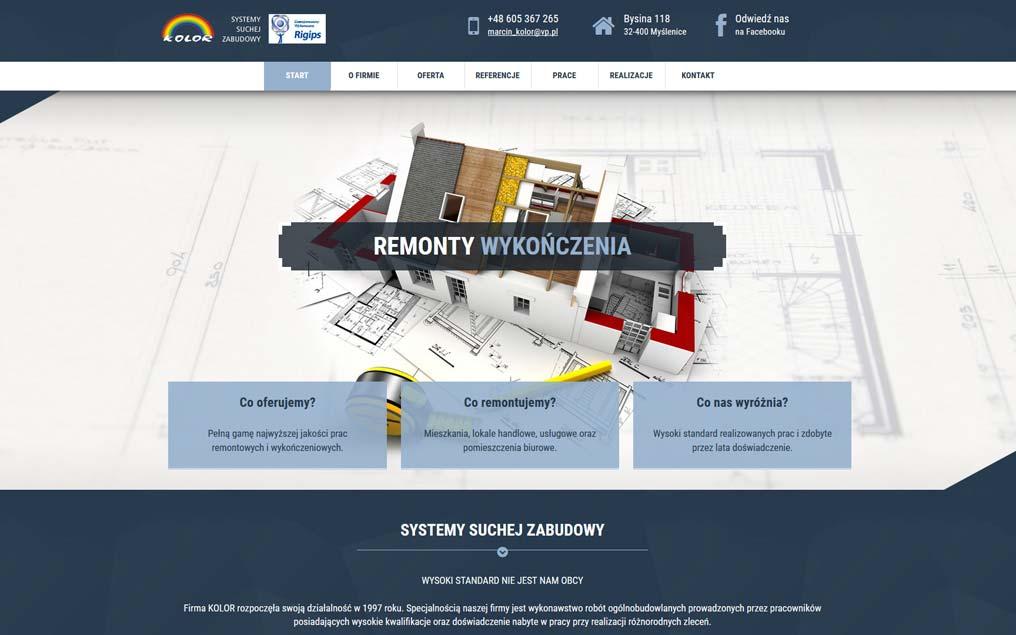 Strona internetowa dla firmy ogólnobudowlanej