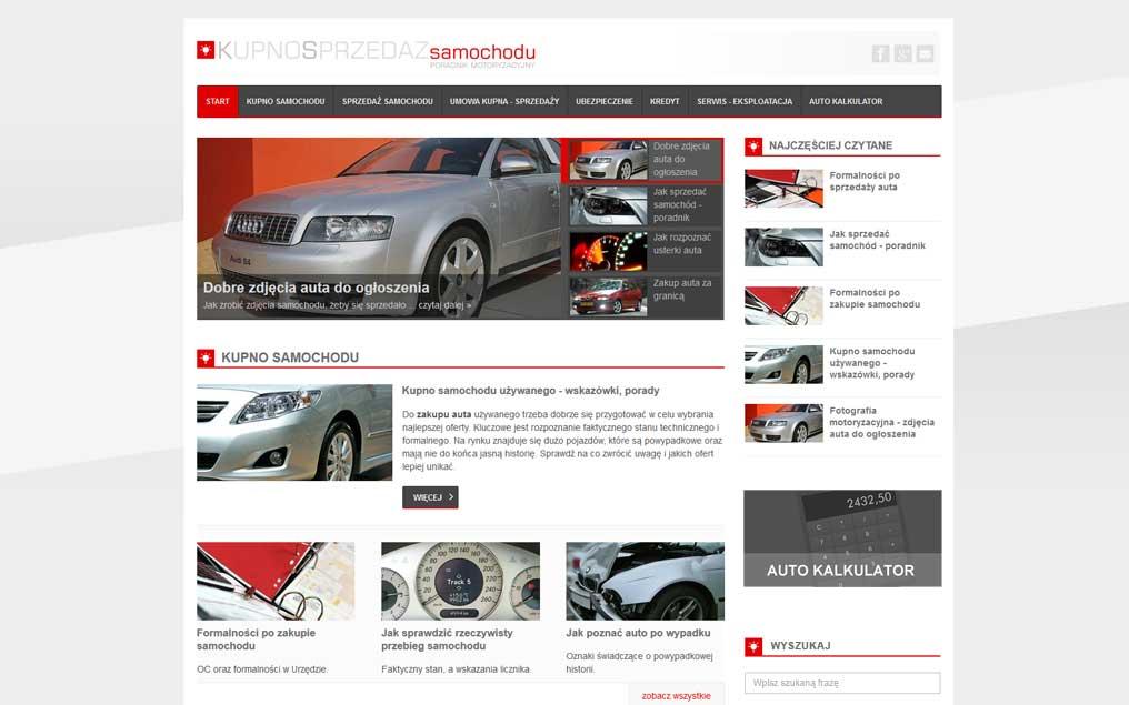 Motoryzacyjna strona internetowa
