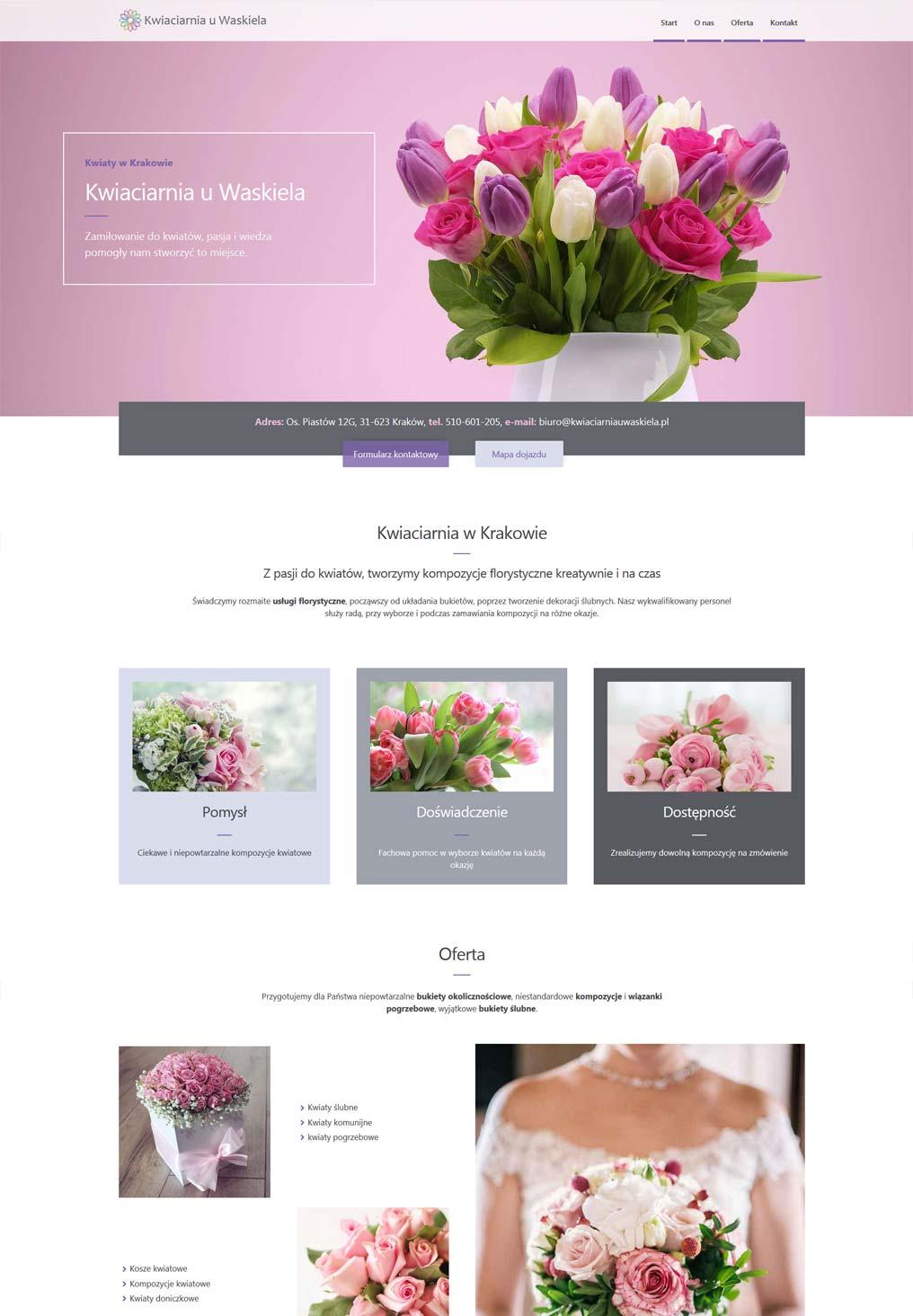 Strona internetowa kwiaciarnia