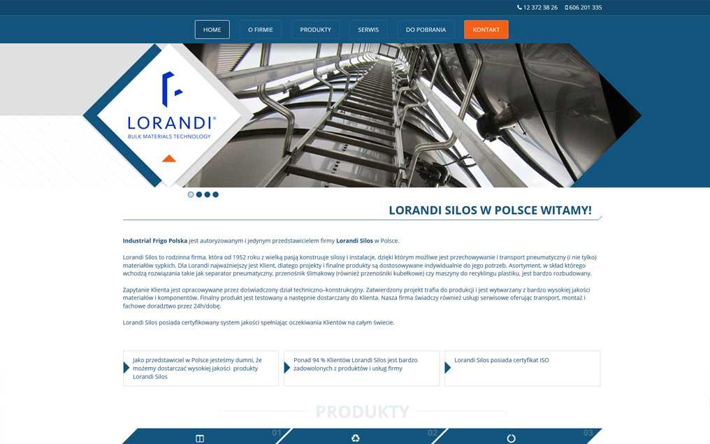 Strona internetowa dla przemysłu