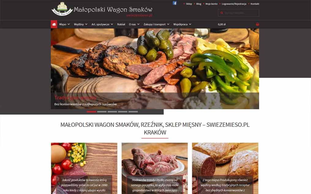 Sklep internetowy dla sklepu mięsnego