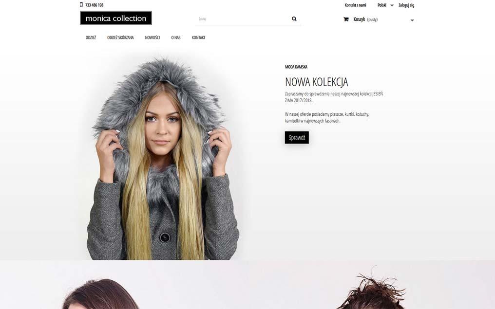 Sklep internetowy dla firmy odzieżowej