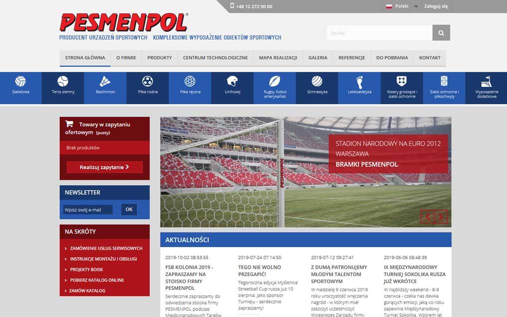 Serwis internetowy producent urządzeń sportowych