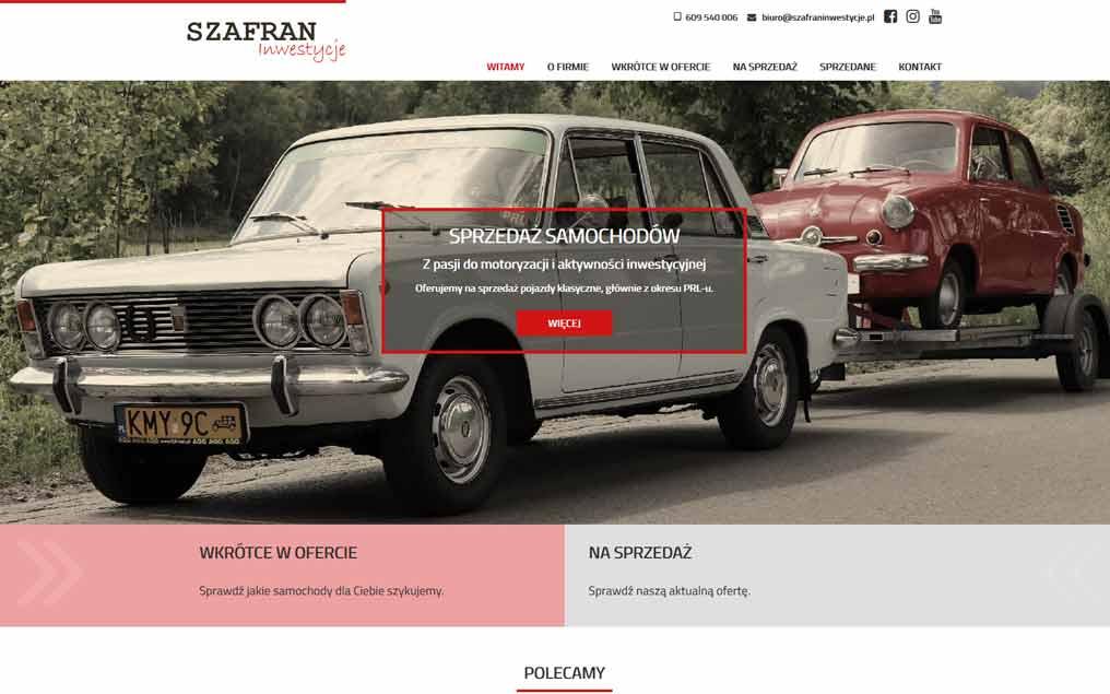 Strona internetowa motoryzacja
