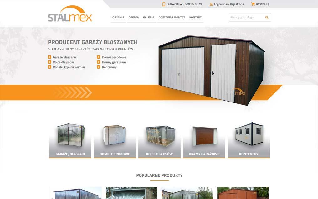 Sklep internetowy dla producenta garaży blaszanych