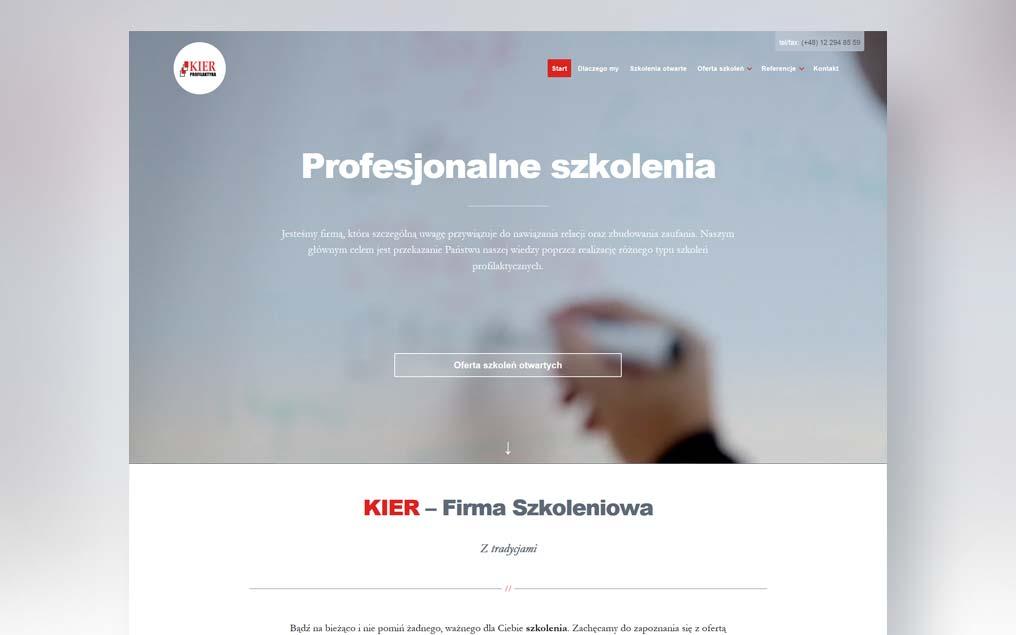 Strona internetowa szkolenia