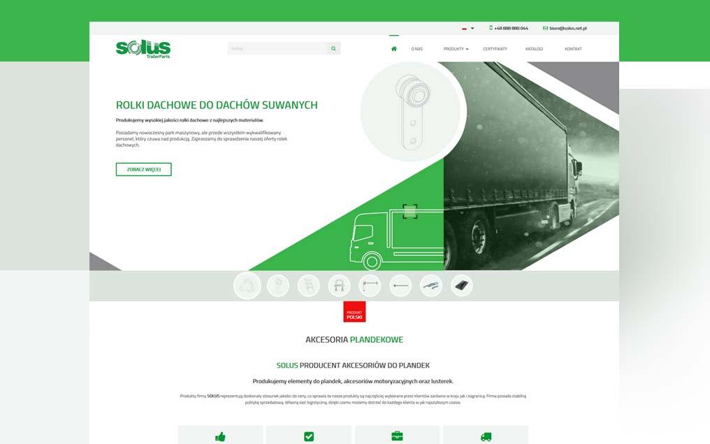 Strona internetowa transport